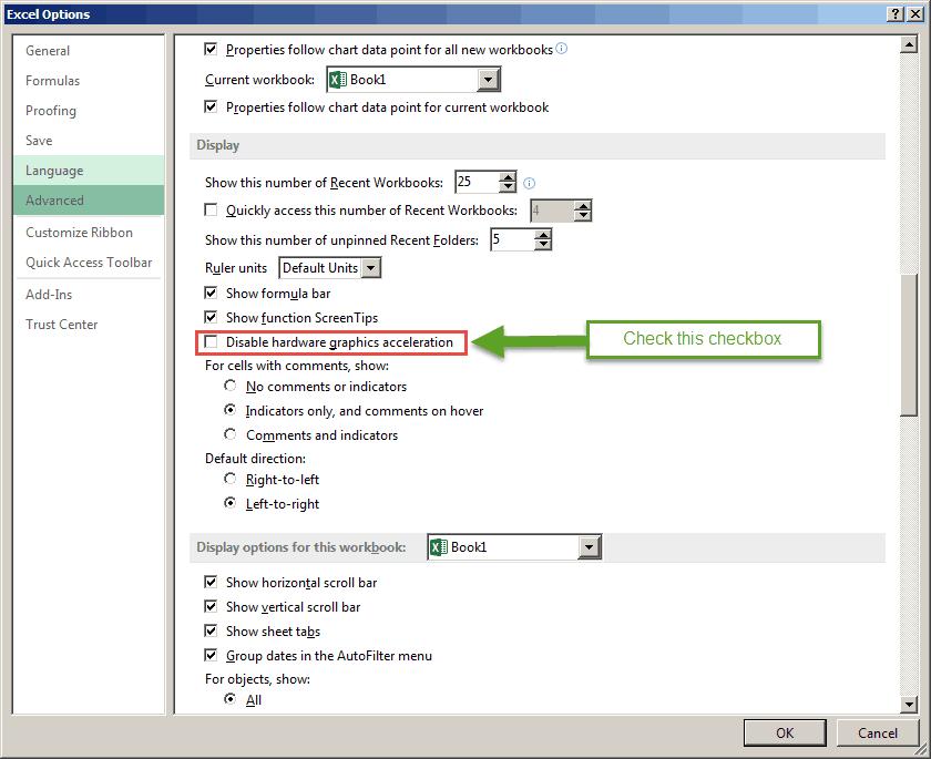 Microsoft Excel Locking Up