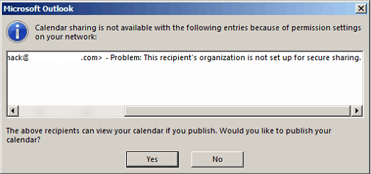 Outlook Calendar Organization : Solved this recipient s organization is not set up for