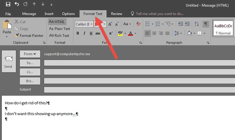 Paragraph Break - Format Text