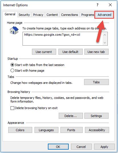 Reset Internet Explorer Step3